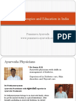 Ayurveda therapies  & treatment India