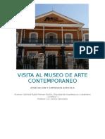 Visita Al Museo de Arte Contemporaneo