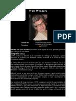WENDERS, WIM - Datos Biográficos y Obra Fílmica