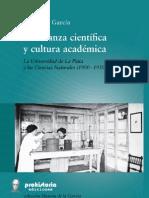 ENSEÑANZA CIENTÍFICA y CULTURA ACADÉMICA, de Susana García