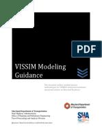 Mdot Sha Tfad Vissim Modeling Guidance 11-21-2016