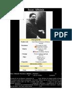 ALBÉNIZ, ISAAC - Datos Bio. y Obra Musical