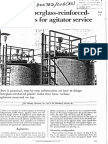 Design Fiber Glass Reinforcement Vesselt for Agitator