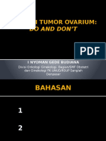 Operasi Tumor Ovarium Do and Don't