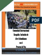 Acciones Afrodescendientes EnProcesodePaz 2014 2015 Colombia Conpa
