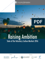 State of Voluntary Carbon Markets 2016