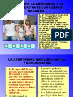 Asertividad y Riesgos Sociales