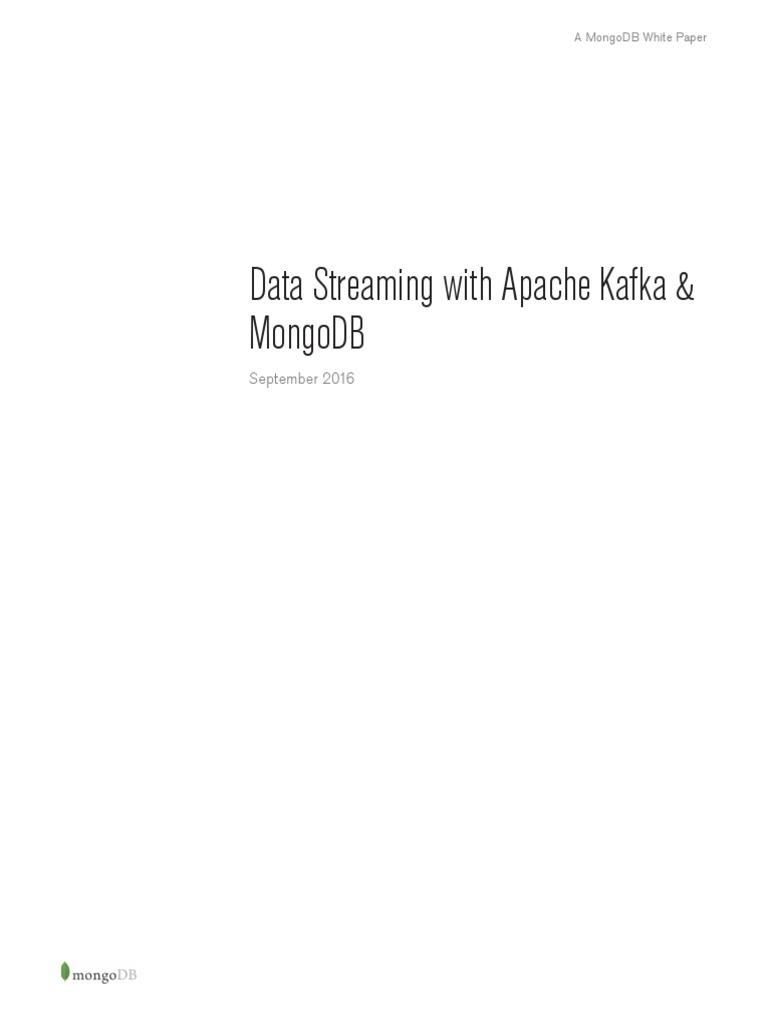 Kafka and Mongodb   Apache Spark   Mongo Db