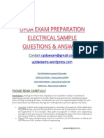 Sample UPDA Electrical Questions and Answers