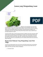 Berbagai Makanan Yang Mengandung Asam Folat