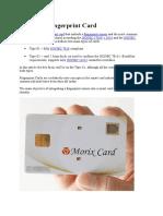 What is a Fingerprint Card