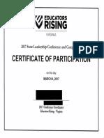 edrising certofparticipation award