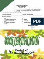 Book Certification