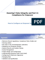Assuring E Data Integrity and Part 11 Compliance for Empower