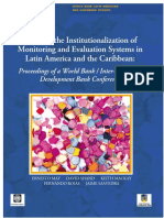 HERNANDEZ - Institucionalización de Los Sistemas de M&E_Banco Mundial