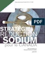 Stratégie de réduction du sodium pour le Canada