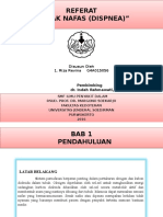 Referat Sesak Nafas - Paru (Dr. Indah, Sp.p)
