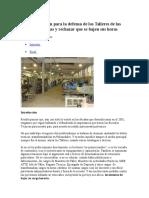 Fundamentación Para La Defensa de Los Talleres de Las Escuelas Técnicas