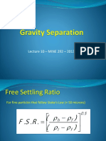 MINE292 Lecture10 Gravity Separation 2014