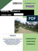 proyecto de agua y desague Huánuco
