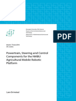 Powertrain, Steering and Control Components for the NMBU Agricultural Mobile Robotic Platform