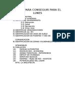 Datos para proponer temas en arquitectura