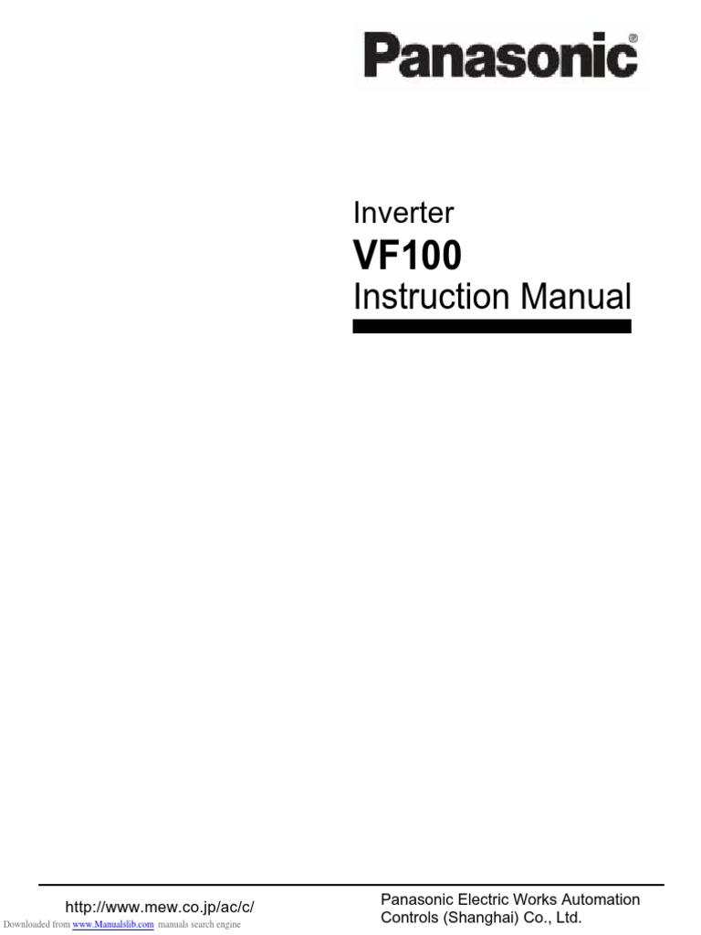Panasonic vf100 inverter manual jacinino's diary.