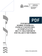20130405 Informe Sobre Acompañante Tte. Escolar