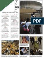Fifth Anniversary Katrina Chronology