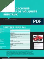Especificaciones Tecnicas de Volquete Sinotruk2