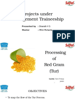 Procurement of Pulses and Other RM for IQF