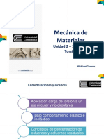 Mecanica de Materiales 1 - UNIDAD 2 - Semana 3