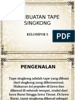 Pembuatan Tape Singkong