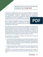 CARTA DE ENTENDIMIENTO PARA LA PUESTA EN MARCHA DEL OBSERVATORIO DE INTEGRIDAD
