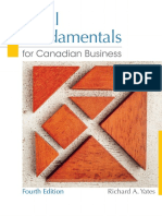 Legal Fundamentals for Canadian Business, 4_e - Richard a. Yates