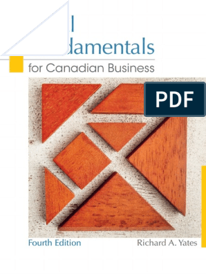 Legal Fundamentals for Canadian Business, 4_e - Richard a