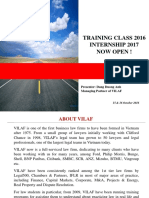 20160912_Information About Training Class & Internship