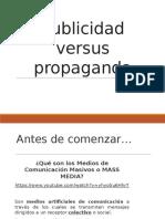 Publicidad Versus Propaganda