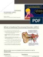 auditory processing disorder  apd