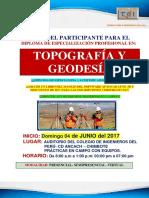 Brochure Topografía y Geodesía