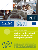 Civitas II Policy Advice Notes 11 Public Transport Quality Es