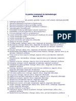 Subiecte Examen Dermatologie Conf.dr. Branisteanu Daciana 2017