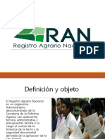 Registro Agrario Nacional Exposicion