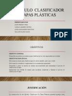 Modulo Clasificador de Tapas Plásticas SUSTENTACION