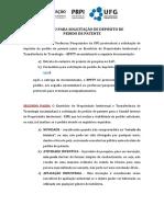 Roteiro Para Solicitação de Depósito de Pedido de Patente Link