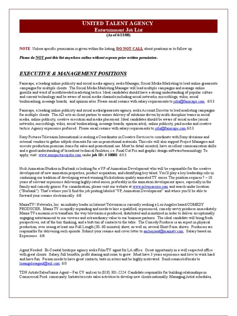 UTA Job List | Internship | Résumé