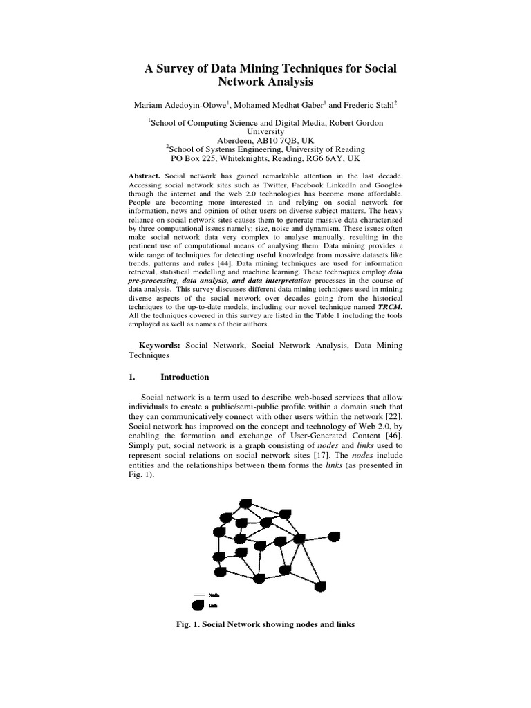 social network analysis paper
