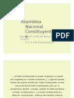 Asamblea Nacional Constituyente- Venezuela