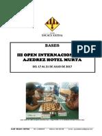III Open Internacional Hotel Murta - Bases Del Torneo