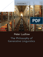 Peter Ludlow-The Philosophy of Generative Linguistics-Oxford University Press (2011)